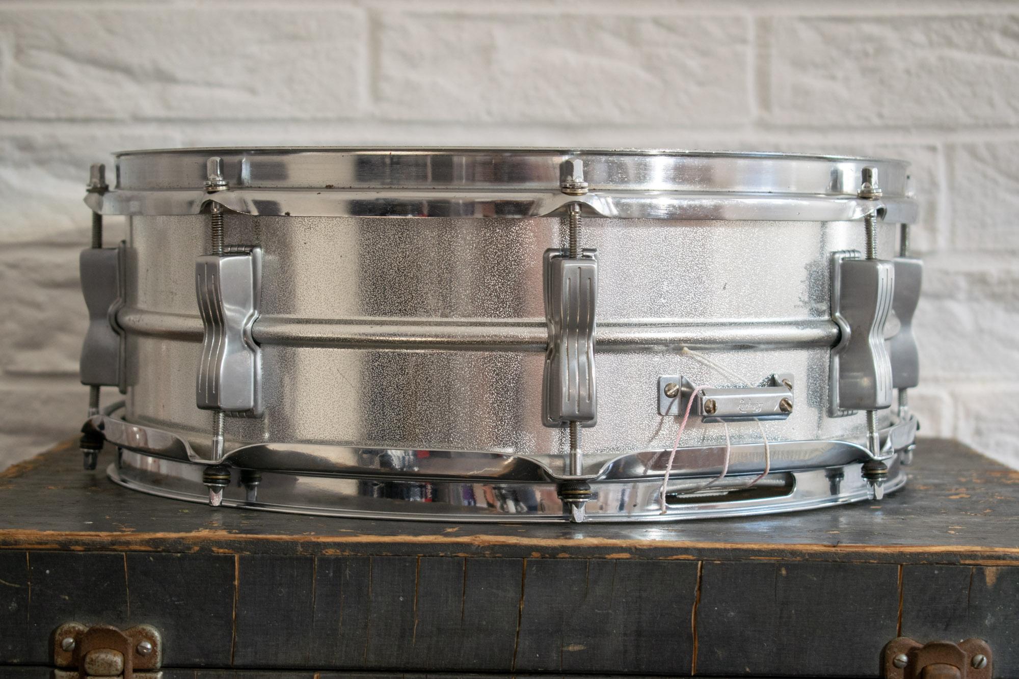 vintage 1960s ludwig 39 acrolite 39 pre serial aluminium 14x5 snare drum more drums. Black Bedroom Furniture Sets. Home Design Ideas